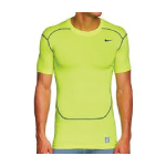 NIKE CORE FITTED S/S TOP - 2.0 neon yellow size large