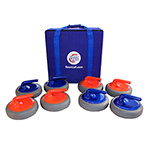 CURLING REPLACEMENT ROCKS (8 ROCKS & CARRYING CASE)