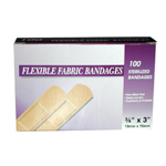 ELASTOBAND FABRIC BANDAGES 7/8 IN. IN.X3 IN. BOX/100