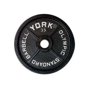 YORK 7354 OLYMPIC STANDARD PLATE 35LB