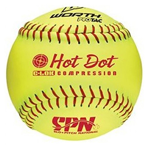 WORTH SPN HOT DOT 11 INCH COR52 SOFTBALLS
