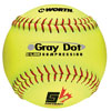 WORTH SUPER GREY DOT OPTIC 12 IN. SOFTBALL