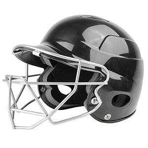 ALL STARA OSFA BLACK BATTERS HELMET WITH CAGE