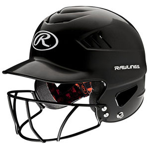 RAWLINGS COOLFLO OSFM BATTERS HELMET WITH CAGE