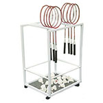 STEEL BADMINTON CART HOLDS 12-16 BADMINTON RACQU