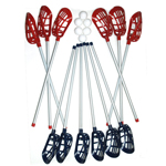 MCWHIPPET LACROSSE STICK SET (6/RED/6BLUE STICKS
