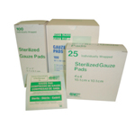 GAUZE PADS 3 IN. X 3 IN. BOX / 100