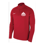 MENS WCL QUARTER ZIP PULLOVER RED