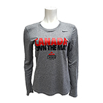 NIKE WOMENS WCL OTM LEGEND LONG SLEEVE GREY
