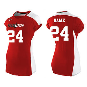 Nike 20/20 Cap Sleeve Womens Vb Jersey Team Set Scarle