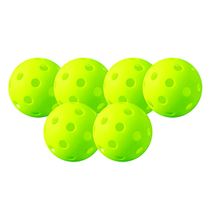 INDOOR PICKLEBALL 6 PACK OF BALLS