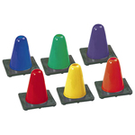 HI VISIBLITY FLEXIBLE VINYL CONE SET 6IN.