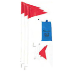 SOCCER FOLDING CORNER FLAGS W/POUCH
