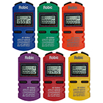 ROBIC SC505C 6 PACK COLOURED STOPWATCHES