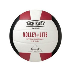 TACHIKARA LITE SVMN BLK/RED/WHT VOLLEYBALL