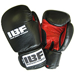 IRON BODY FITNESS PRO LETHER 16 OZ BOXING GLOVES